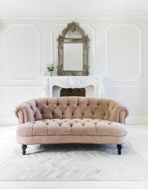 Chablis Amp Roses Blush Pink Velvet Chesterfield Sofa
