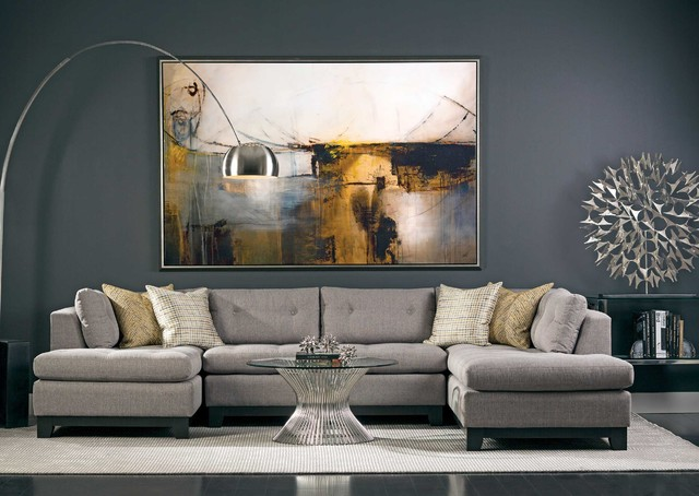 Chandler Sectional Contemporary Living Room by High
