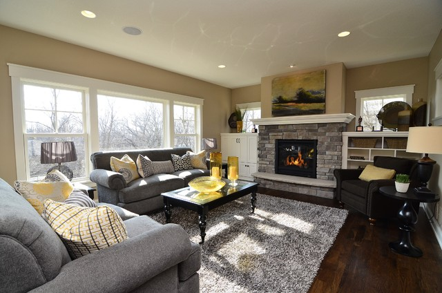 Chanhassen Cottage New Construction contemporary-living-room