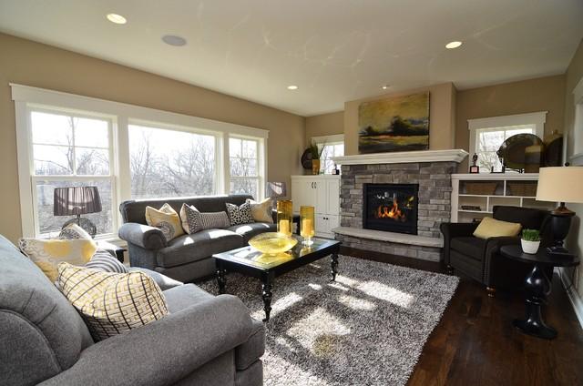 Chanhen Cottage New Constructioncontemporary Living Room Minneapolis