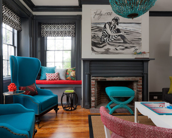 Coral And Turquoise Living Room Design Ideas Pictures Remodel And
