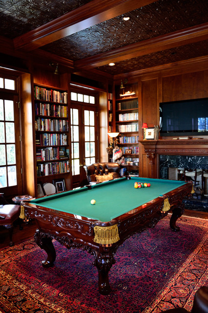 Charleston Row Billiard Room Traditional Living Room