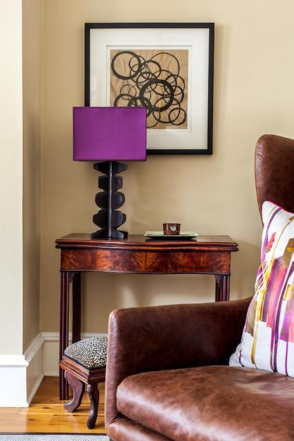 Living room - transitional living room idea in Boston