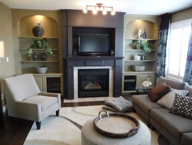 Updated Builder's Special eclectic-family-room