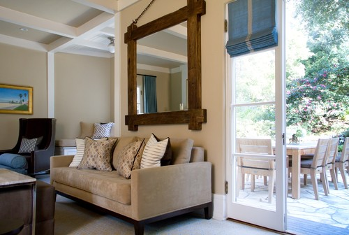 framed pictures living room. The big  wood framed mirror gives this traditional living room a touch of nature is strong and sturdy the color great accent to Wood Framed Mirrors for Modern Homes