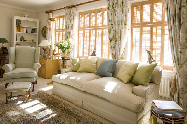 Charming City Apartment traditional-living-room
