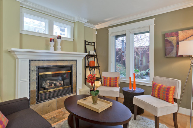 Charming Townhouse In Madison Park transitional-living-room