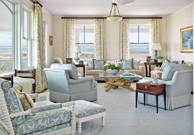Inspiration For A Mid Sized Beach Style Formal And Enclosed Carpeted Living  Room Remodel In Part 40
