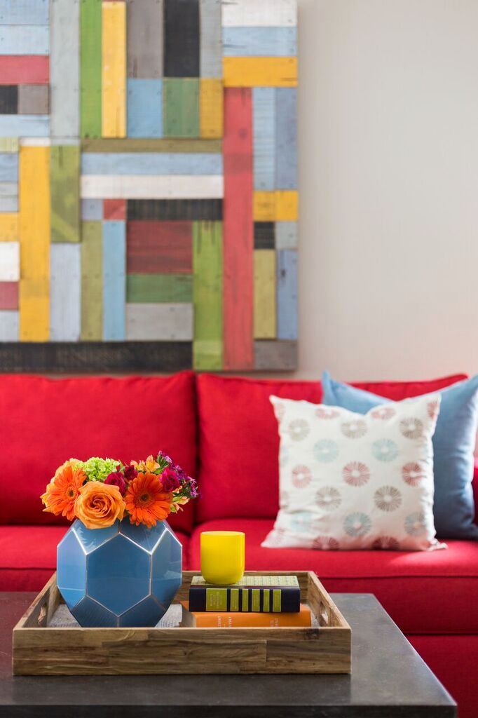 Cheerful and Cozy Living Room Redesign