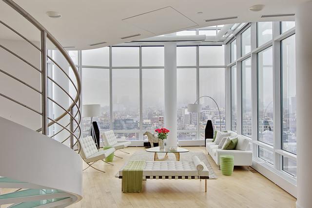 Chelsea duplex penthouse minimalistisch wohnbereich for Minimalistisch wohnen vorher nachher