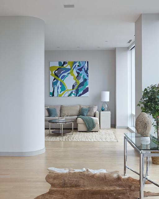 Chelsea Duplex Penthouse Contemporary Living Room