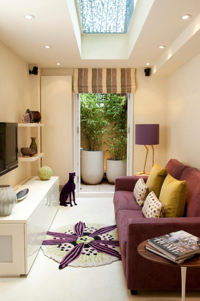 Living room - transitional living room idea in London