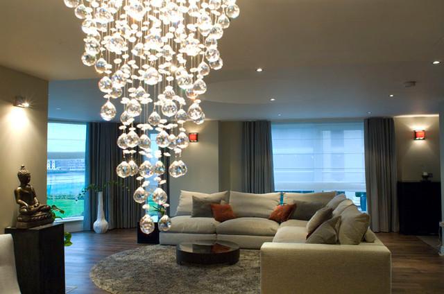 Chelsea Imperial Wharf Riverside Apartment Modern Wohnbereich