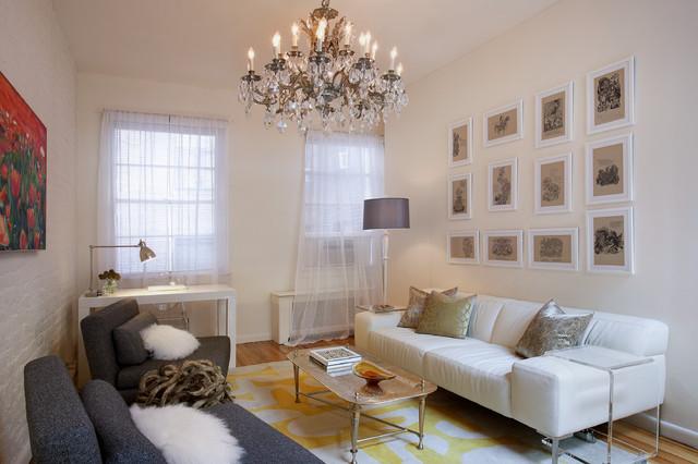 Esempio di un soggiorno minimalista di medie dimensioni e chiuso