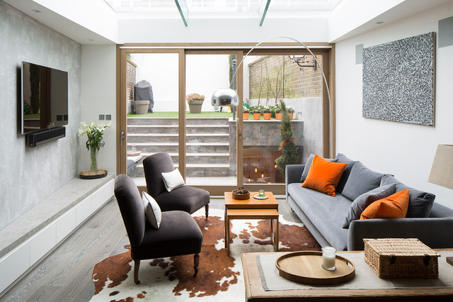 Chelsea terrace house with basement - Contemporary ...