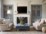 transitional living room 15 Ways to Enhance Your Cabinets With Grilles (23 photos)