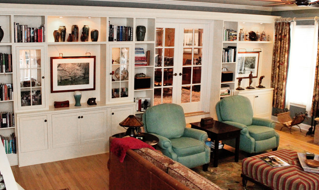 Chester Nj Built in wall unit Traditional Living Room