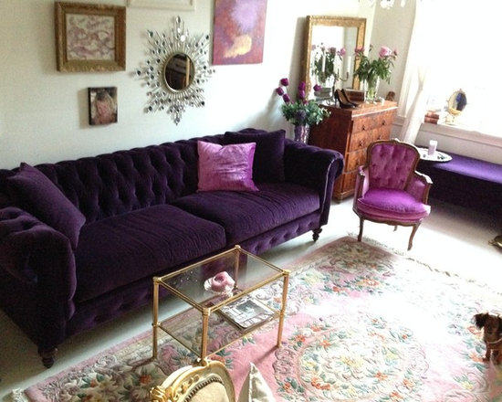 """Chesterfield 96"""" Couch at home in Norway. -"""