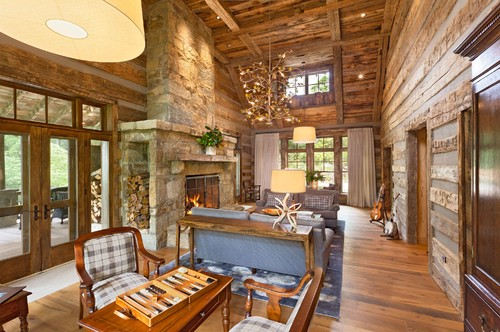 Clever Wood Storage Log Cabin Fireplace