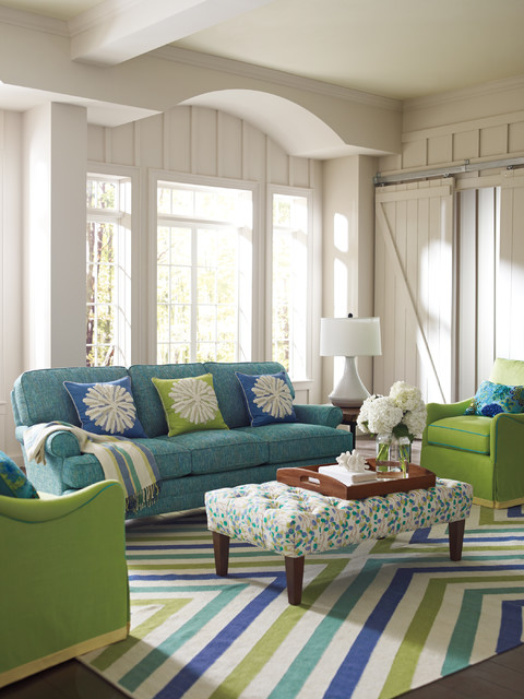 Chevron Rug In Capri Blue Living Room Boston By Company C