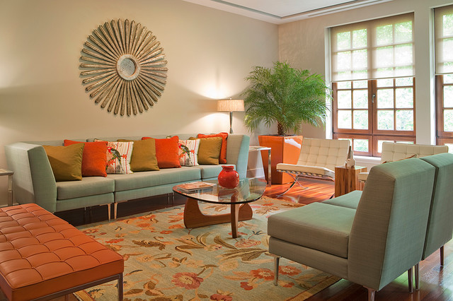 Chevy Chase Living Room contemporary-living-room