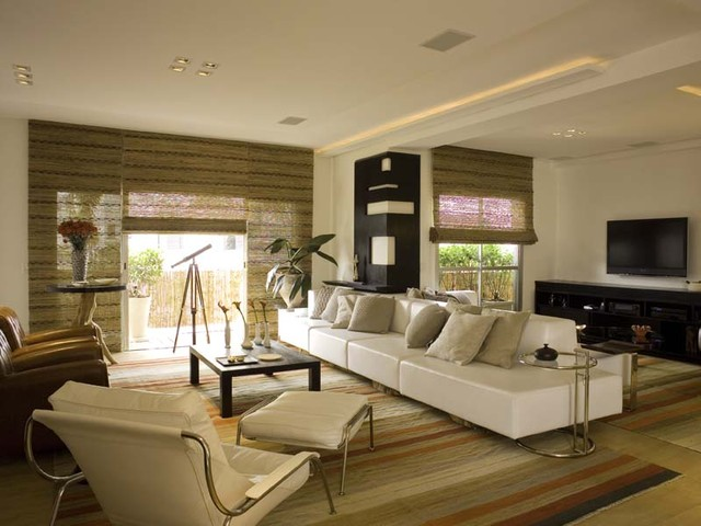 Chic and zen modern living room for Ideas decorativas home salas