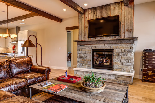 Fireplace Using Reclaimed Barn Wood--and What To Do On The