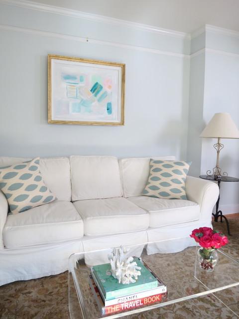 Chic gray blue living room - Contemporary - Living Room - charleston - by Jennifer Latimer ...
