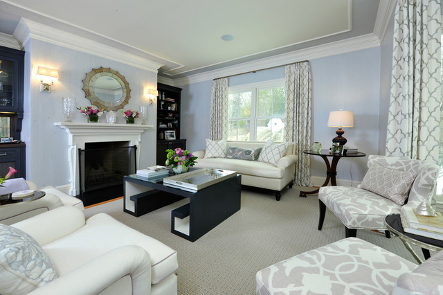 Chic Living Room Contemporary Living Room New York By