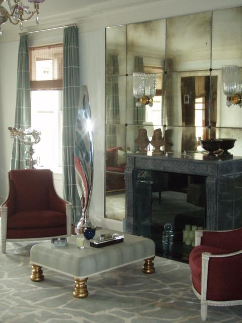 Chic New York Duplex transitional-living-room