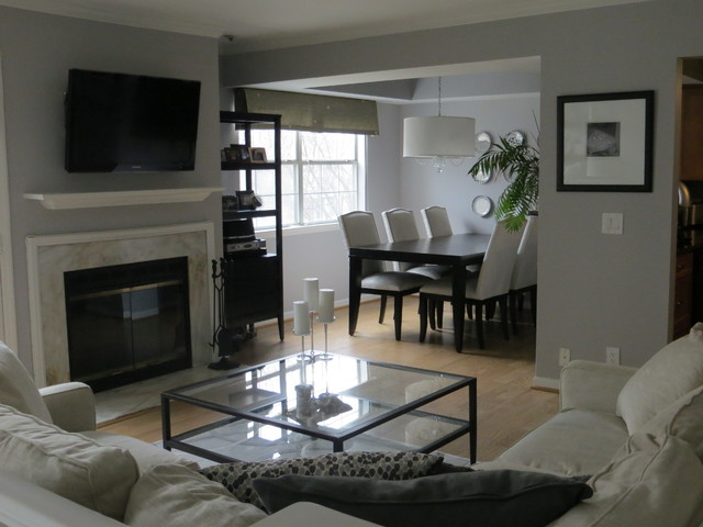Chic Shimmer Open Concept - Contemporary - Living Room - DC Metro ...
