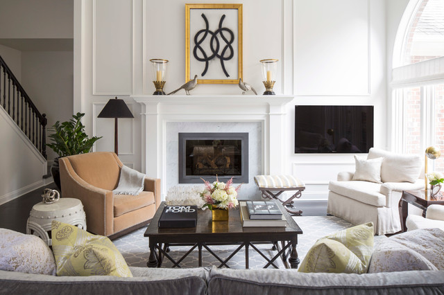 Chic Townhome Transitional Living Room Minneapolis By Mary Hickey Interiors