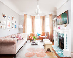 Chic Victorian transitional-living-room