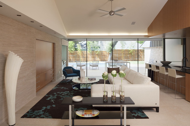 modern family room by Webber + Studio, Architects