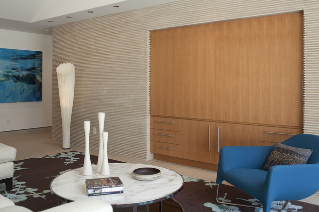 Modern Living Room Idea In Austin With Beige Walls Part 67