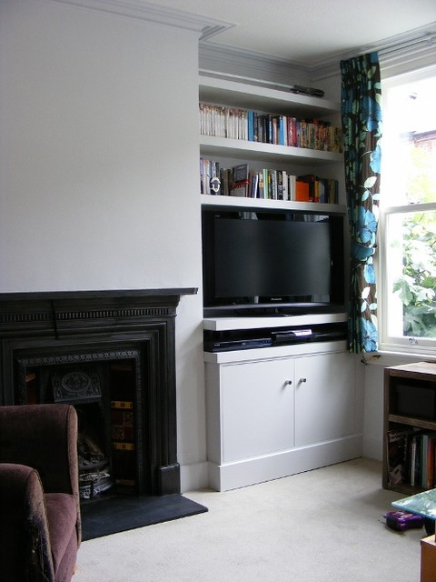Chloe Alcove Cupboards And Shelves Living Room London By Exploit Space