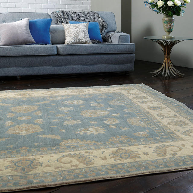 chobi rugs modern living room manchester by the