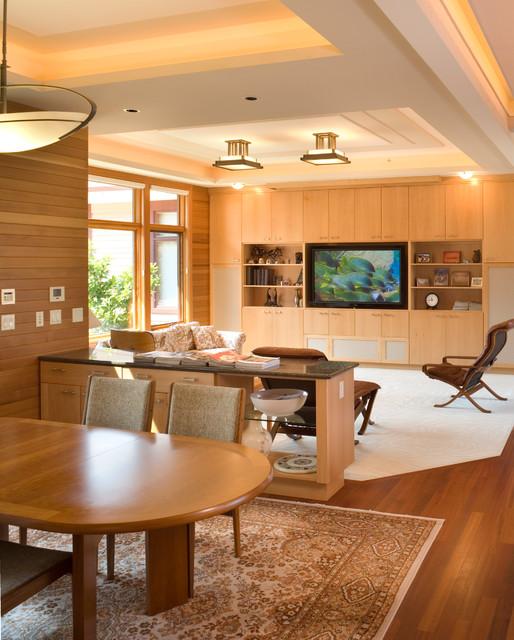 Chou residence contemporaneo soggiorno portland di for Piani domestici di alan mascord