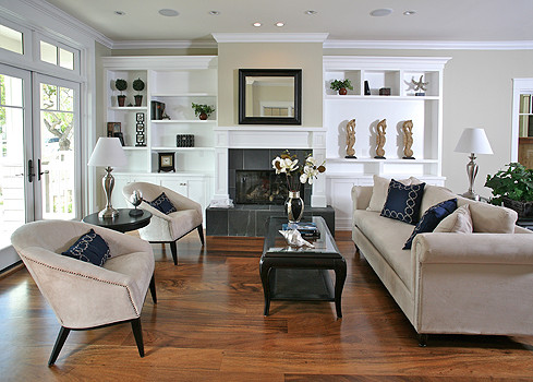 christian rice architects, inc. traditional living room