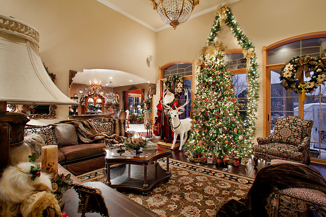 Christmas decor mediterranean living room chicago Christmas decorations interior design