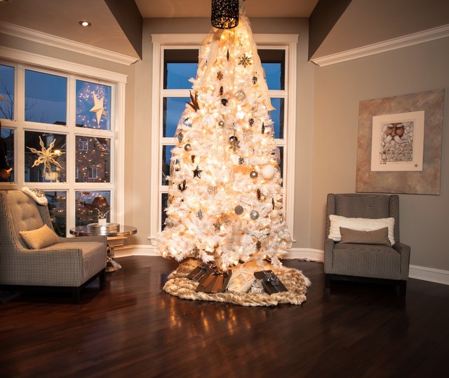 Christmas Decorating 2014 Transitional Living Room
