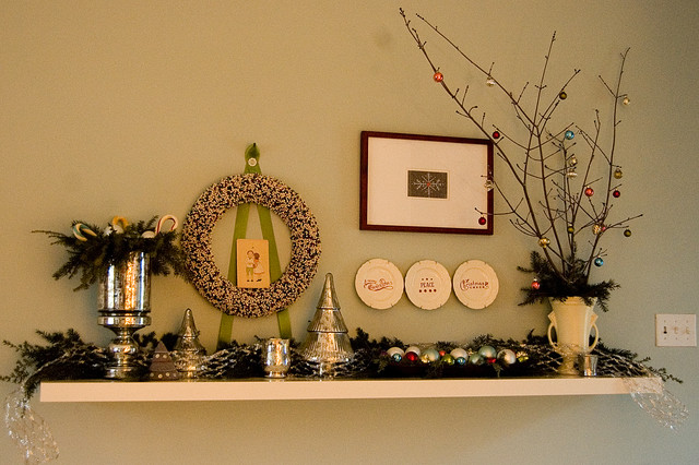 Christmas Decorations eclectic-living-room