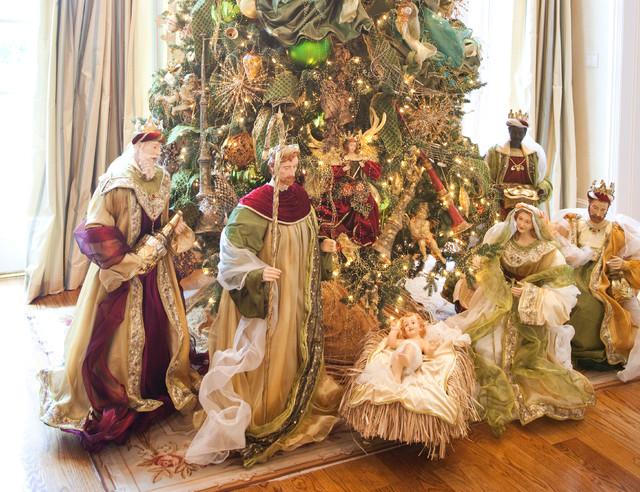 Christmas Interior Traditional Living Room Houston