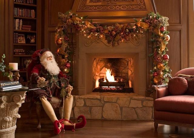 Christmas Interior Traditional Living Room Houston By Regina Gust Designs