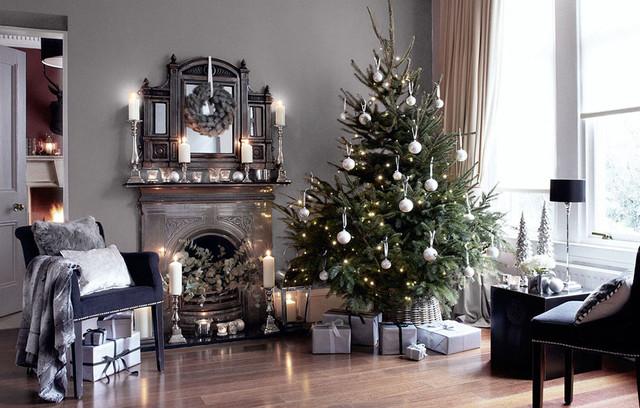 Christmas Look Book - Silver Lining modern-vardagsrum
