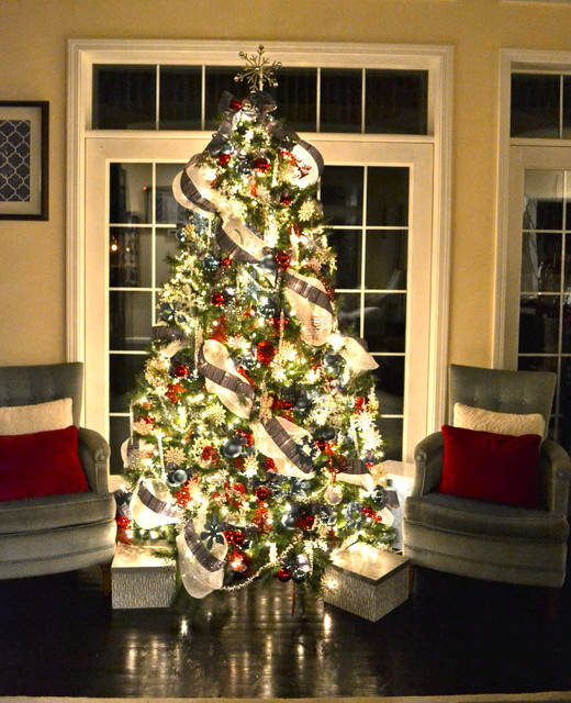 Christmas Tree Contemporary Living Room Other