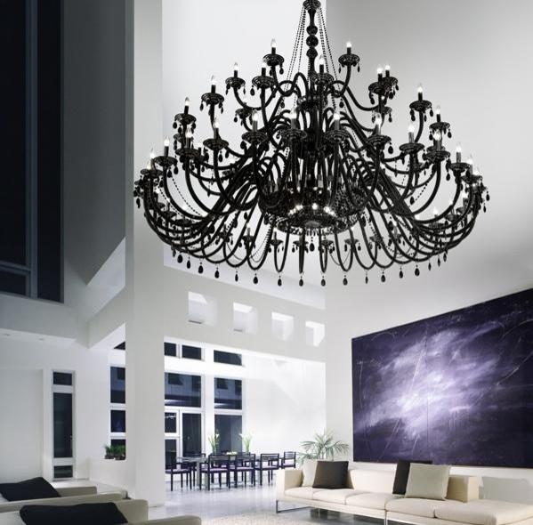 christopher wray abilunon murano chandelier contemporary living