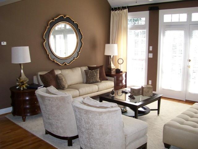 Charming Living Room   Contemporary Living Room Idea In Charlotte