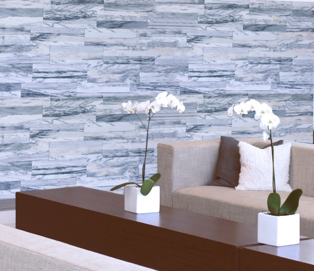 Cinza Tile Feature Wall Modern Living Room Detroit