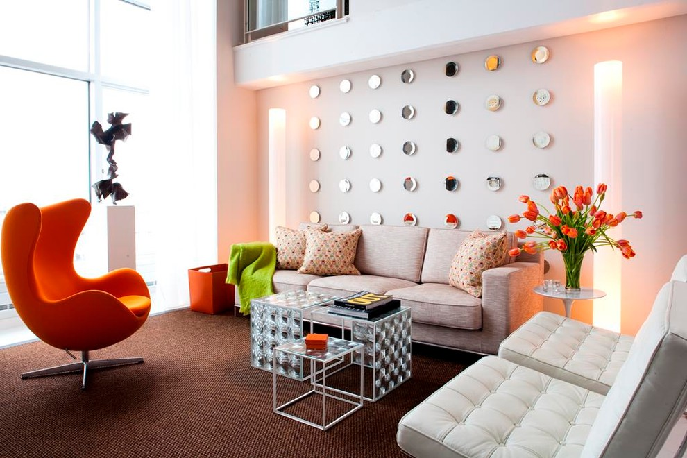 Inspiration for a mid-sized contemporary living room remodel in Other